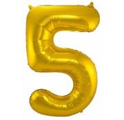 Cijfer Ballon Goud 5 - per stuk