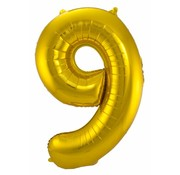 Cijfer Ballon Goud 9 - per stuk