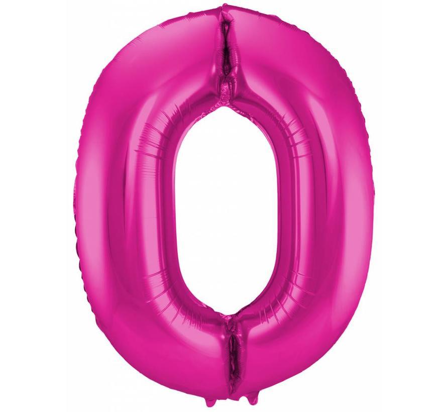 Cijfer Ballon Paars 0 - per stuk