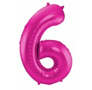 Cijfer Ballon Paars 6 - per stuk