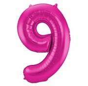 Cijfer Ballon Paars 9 - per stuk