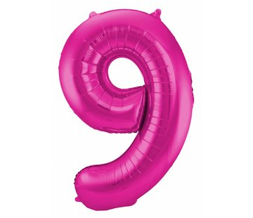 Cijfer Ballon Paars 9 - 86cm