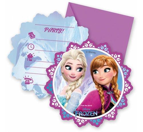 Disney Frozen Uitnodigingen - 6 stuks