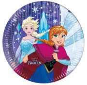 Disney Frozen Snowflakes Bordjes 23 cm - 8 stuks