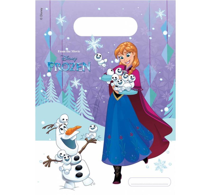Disney Frozen Snowflakes Uitdeelzakjes - 6 stuks