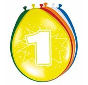 Verjaardag Ballonnen 1 jaar - 8 stuks