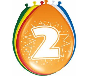 Verjaardag Ballonnen 2 jaar 30cm - 8 stuks