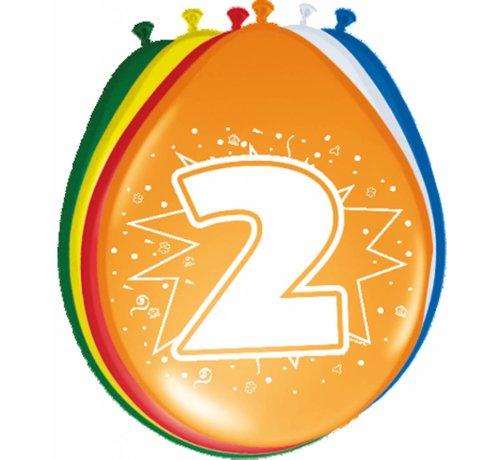 Verjaardag Ballonnen 2 jaar 30 cm - 8 stuks