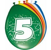 Verjaardag Ballonnen 5 jaar 30 cm - 8 stuks