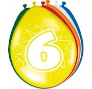 Verjaardag Ballonnen 6 jaar 30 cm - 8 stuks