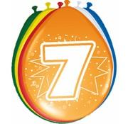 Verjaardag Ballonnen 7 jaar 30cm - 8 stuks