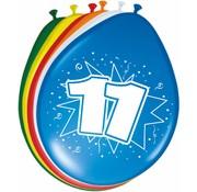 Verjaardag Ballonnen 11 jaar 30cm - 8 stuks