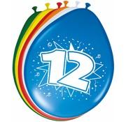 Verjaardag Ballonnen 12 jaar 30cm - 8 stuks