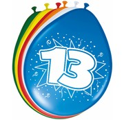 Verjaardag Ballonnen 13 jaar 30cm - 8 stuks