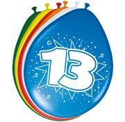 Verjaardag Ballonnen 13 jaar - 8 stuks