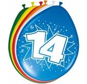 Verjaardag Ballonnen 14 jaar - 8 stuks