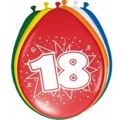 Verjaardag Ballonnen 18 jaar - 8 stuks