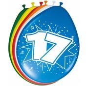 Verjaardag Ballonnen 17 jaar 30 cm - 8 stuks