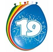 Verjaardag Ballonnen 19 jaar 30cm - 8 stuks