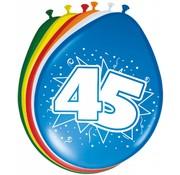 Verjaardag Ballonnen 45 jaar 30cm - 8 stuks