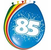 Verjaardag Ballonnen 85 jaar 30cm - 8 stuks