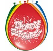 Verjaardag Ballonnen Happy Birthday 30 cm - 8 stuks