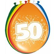 Verjaardag Ballonnen 50 jaar 30cm - 8 stuks