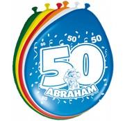 Verjaardag Ballonnen 50 jaar Abraham 30 cm - 8 stuks