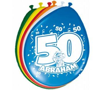 Verjaardag Ballonnen 50 jaar Abraham 30cm - 8 stuks