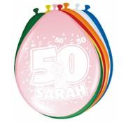 Verjaardag Ballonnen 50 jaar Sarah 30cm - 8 stuks