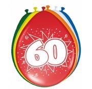 Verjaardag Ballonnen 60 jaar 30cm - 8 stuks