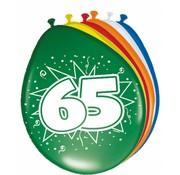 Verjaardag Ballonnen 65 jaar 30cm - 8 stuks
