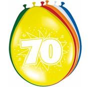 Verjaardag Ballonnen 70 jaar 30 cm - 8 stuks