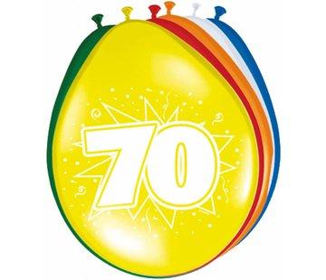 Verjaardag Ballonnen 70 jaar 30cm - 8 stuks