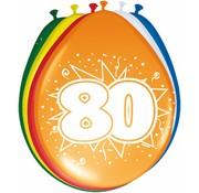 Verjaardag Ballonnen 80 jaar 30 cm - 8 stuks