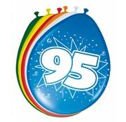 Verjaardag Ballonnen 95 jaar 30cm - 8 stuks
