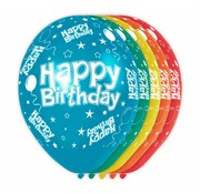 Verjaardag Ballonnen Happy Birthday 30 cm- 5 stuks