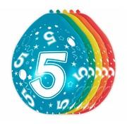 Verjaardag Ballonnen 5 jaar 30cm - 5 stuks