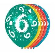 Verjaardag Ballonnen 6 jaar 30cm - 5 stuks