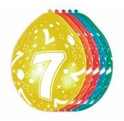 Verjaardag Ballonnen 7 jaar - 8 stuks