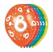Verjaardag Ballonnen 8 jaar 30 cm - 5 stuks