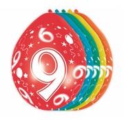 Verjaardag Ballonnen 9 jaar - 5 stuks