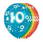 Verjaardag Ballonnen 10 jaar 30cm - 5 stuks