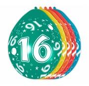 Verjaardag Ballonnen 16 jaar 30 cm - 5 stuks