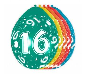 Verjaardag Ballonnen 16 jaar - 5 stuks