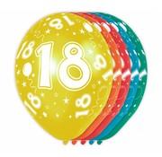 Verjaardag Ballonnen 18 jaar 30cm - 5 stuks