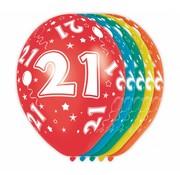 Verjaardag Ballonnen 21 jaar 30cm - 5 stuks
