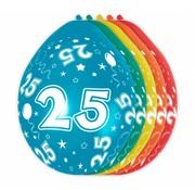 Verjaardag Ballonnen 25 jaar - 5 stuks
