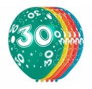 Verjaardag Ballonnen 30 jaar 30cm - 5 stuks