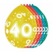 Verjaardag Ballonnen 40 jaar 30cm - 5 stuks